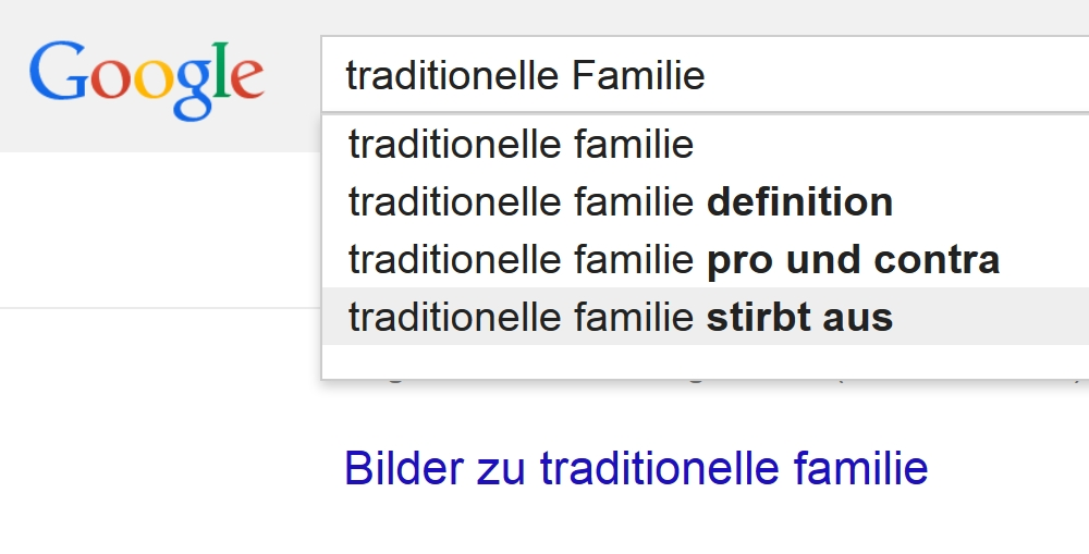 google traditionelle familie