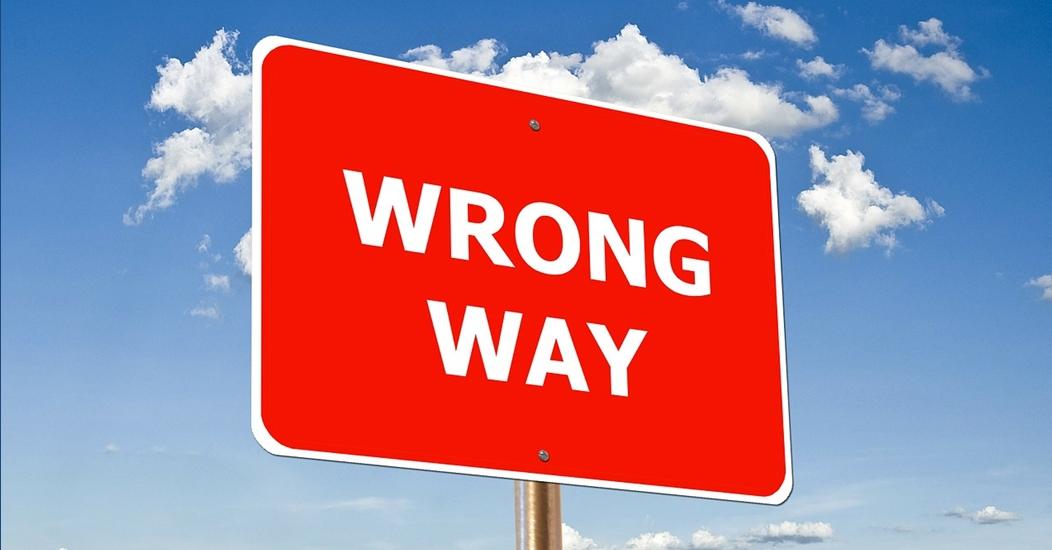 Blogbild wrong way