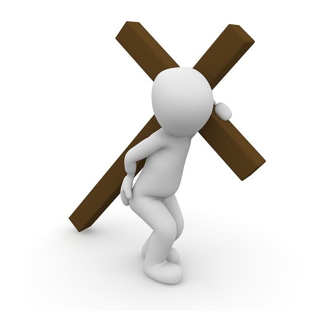 Kreuz tragen